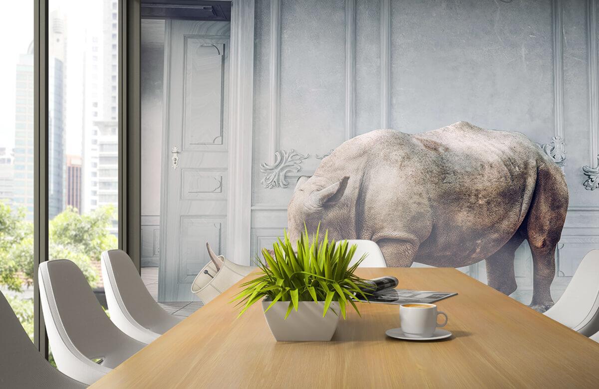 3D Neushoorn met lampenkap 2