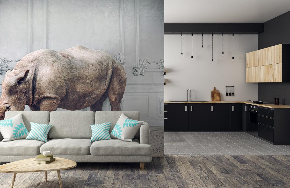 3D Neushoorn met lampenkap 5