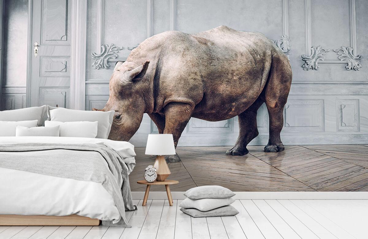 3D Neushoorn met lampenkap 8