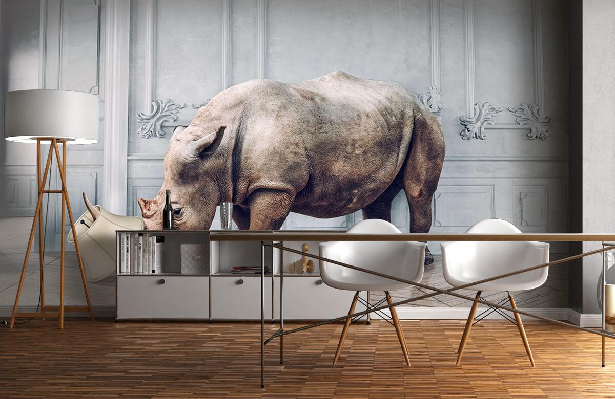 3D Neushoorn met lampenkap 11