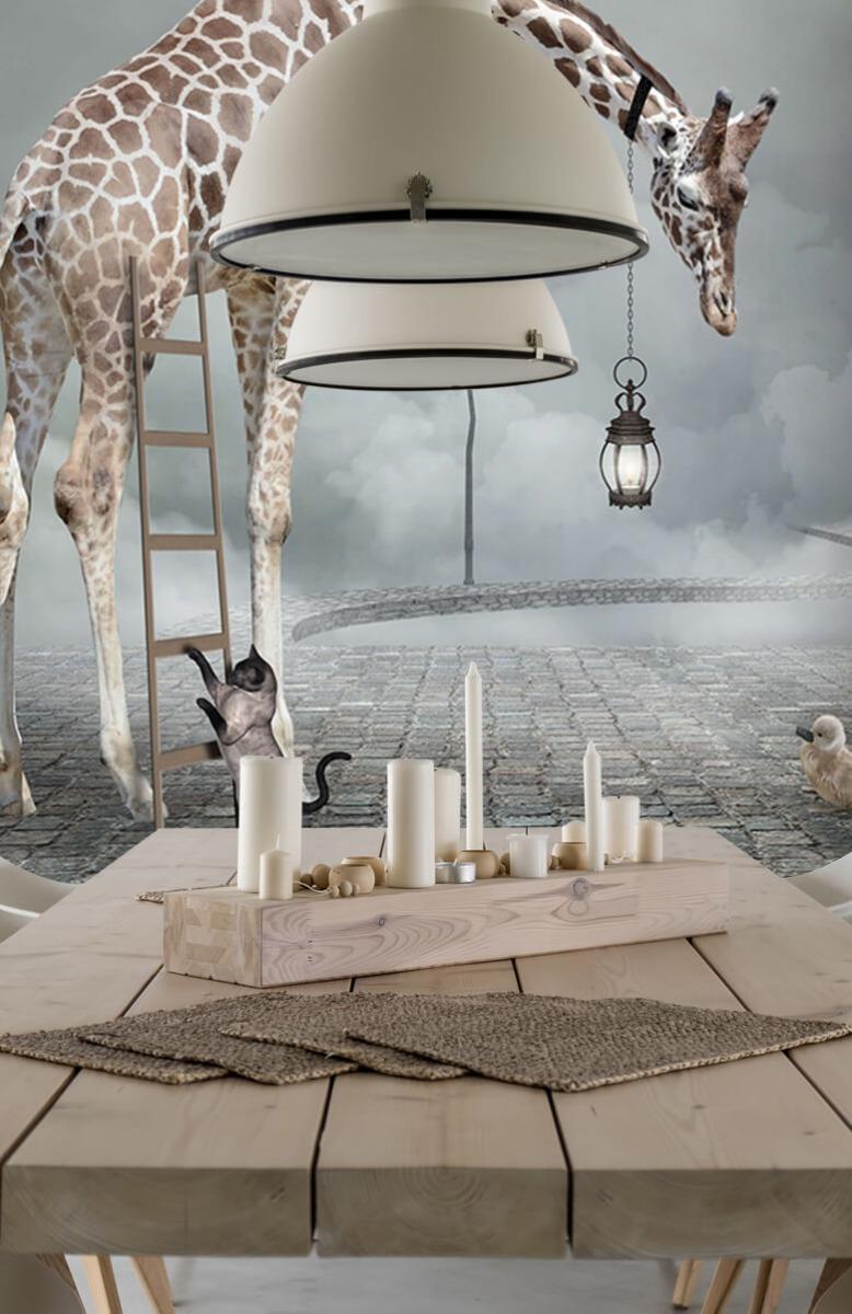 3D Fantasie landschap met dieren 4