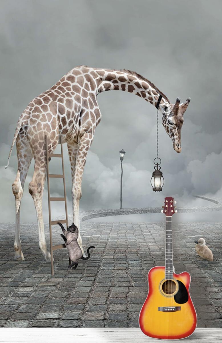 3D Fantasie landschap met dieren 11