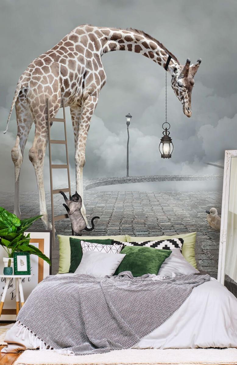 3D Fantasie landschap met dieren 13