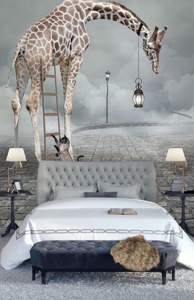 3D Fantasie landschap met dieren 14