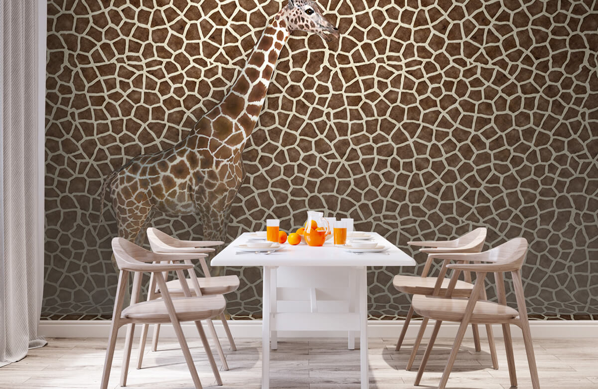 3D Gecamoufleerde giraffe 1