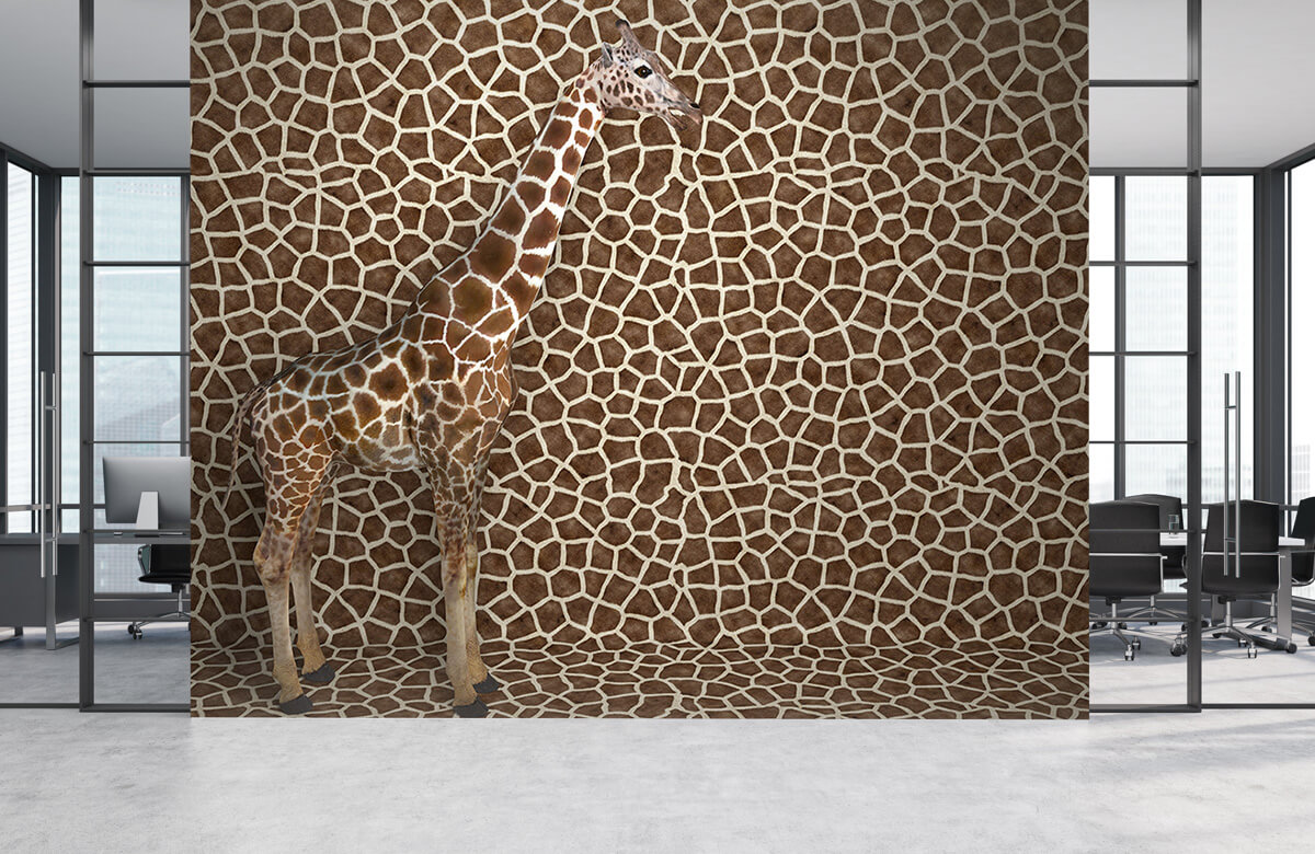3D Gecamoufleerde giraffe 4