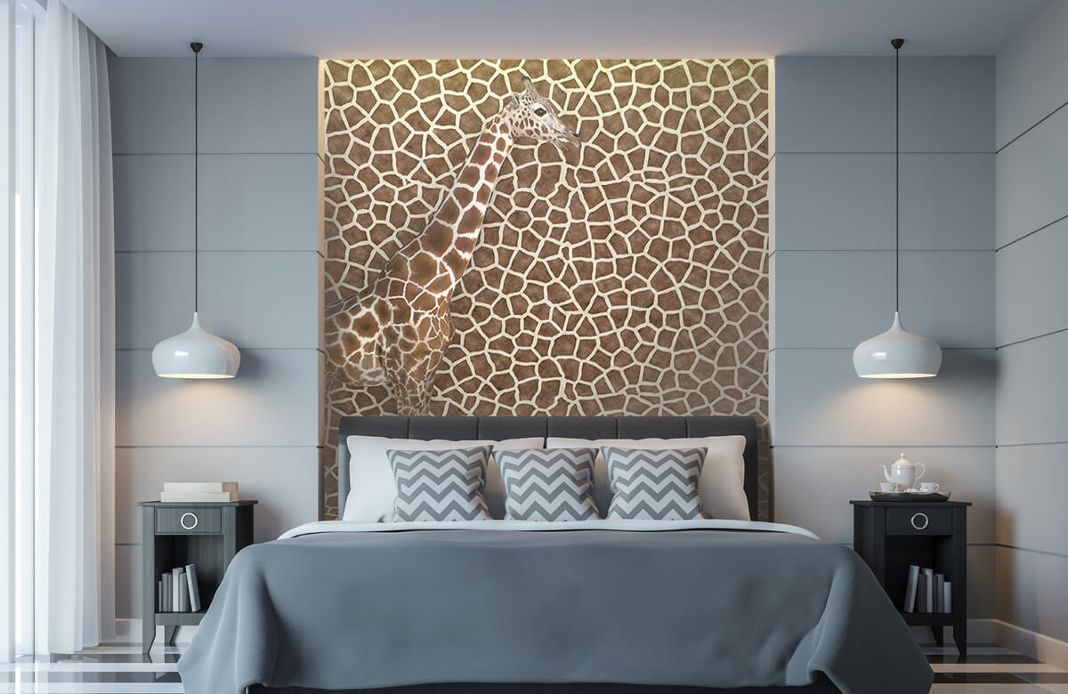 3D Gecamoufleerde giraffe 8