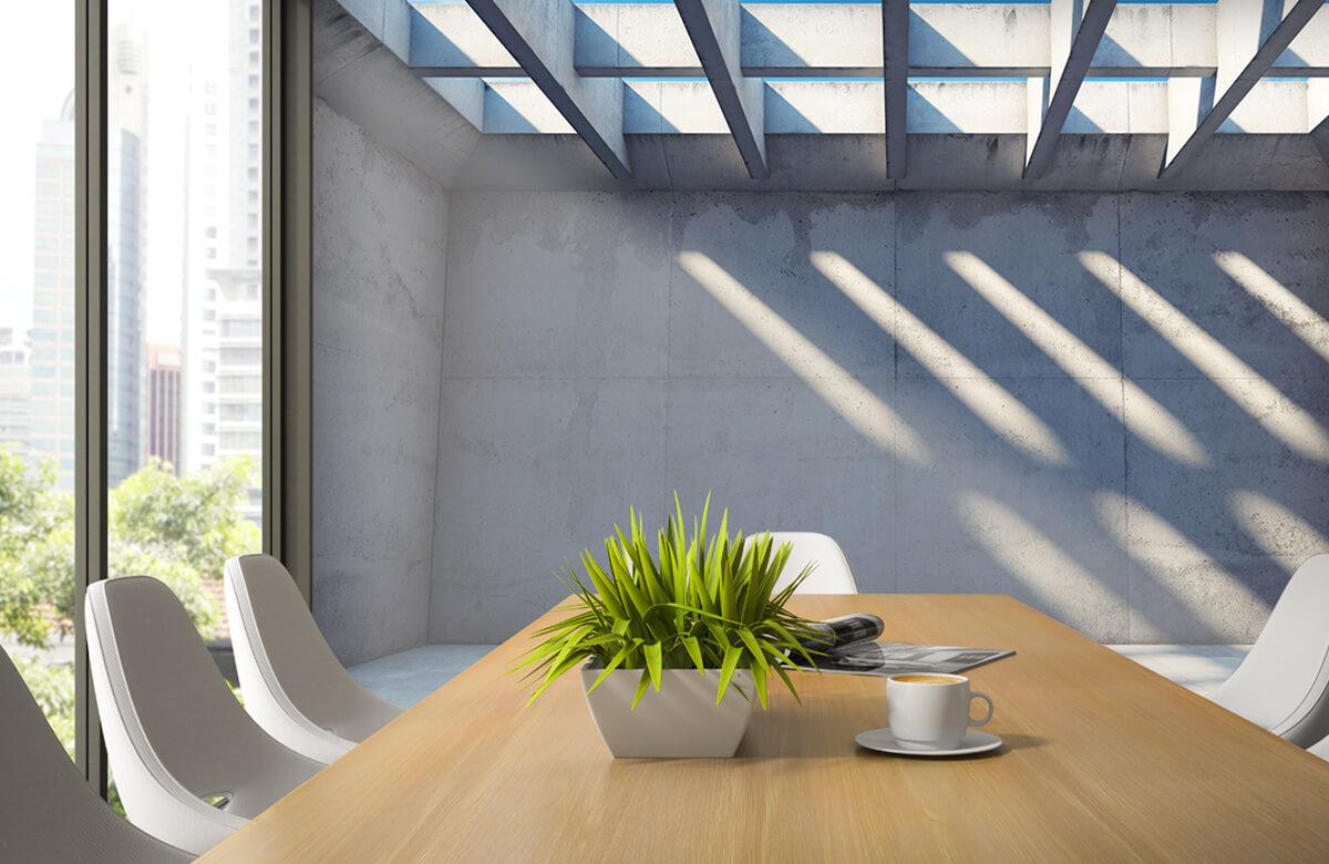 3D Lege ruimte met open dak 4