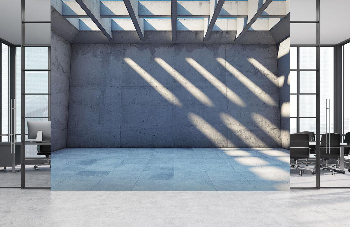 3D Lege ruimte met open dak 5