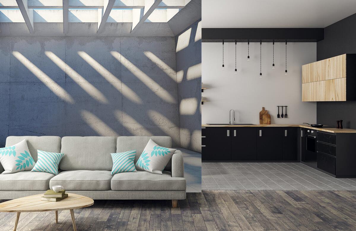 3D Lege ruimte met open dak 1