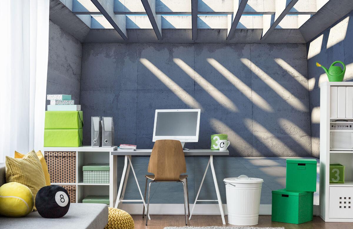 3D Lege ruimte met open dak 2