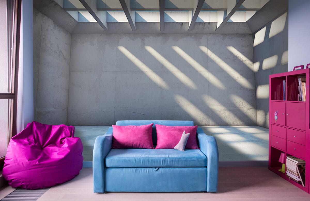3D Lege ruimte met open dak 10