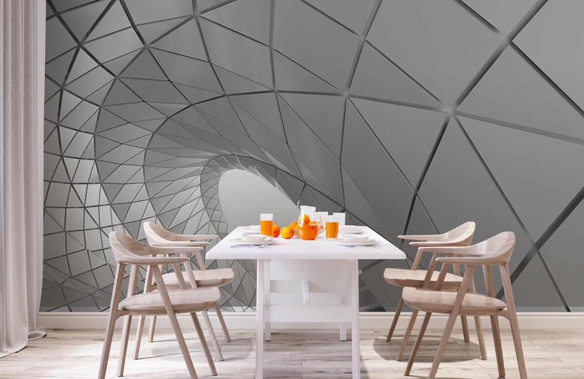 3D Gebogen tunnel 3