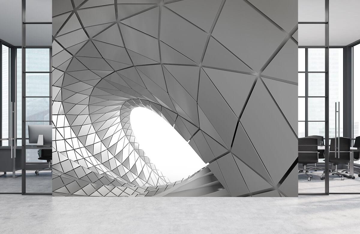 3D Gebogen tunnel 5