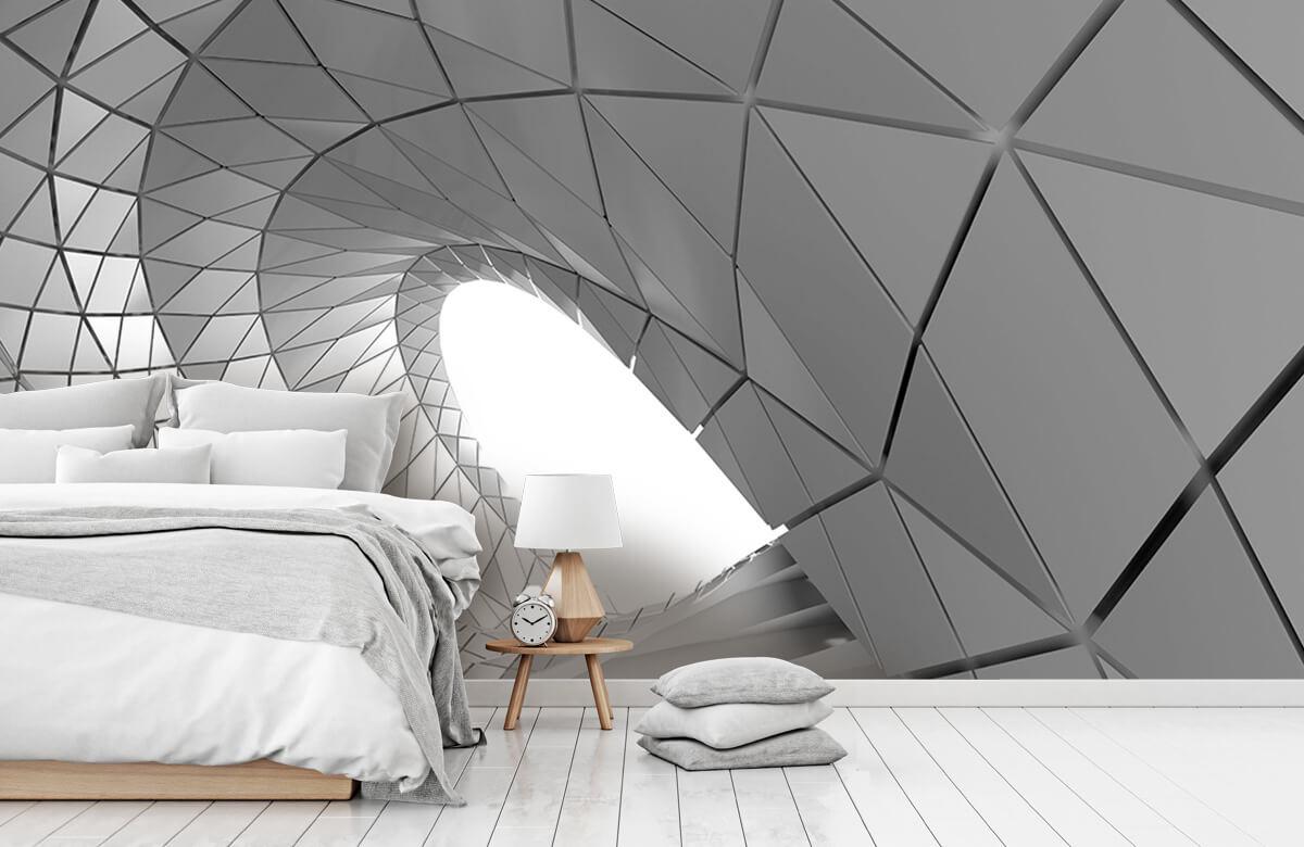 3D Gebogen tunnel 9
