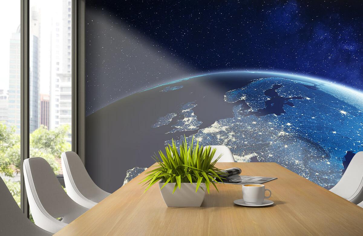 3D 3D Wereld in de nacht 3