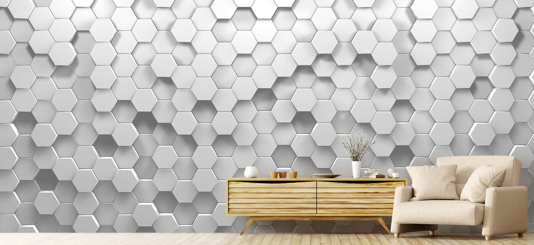 3D 3D Hexagons 1