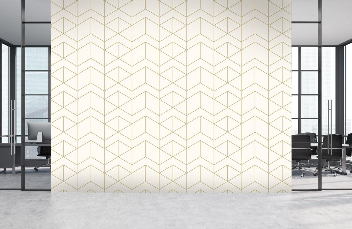 Beton, hout en steen Geometrische witte tegels 4