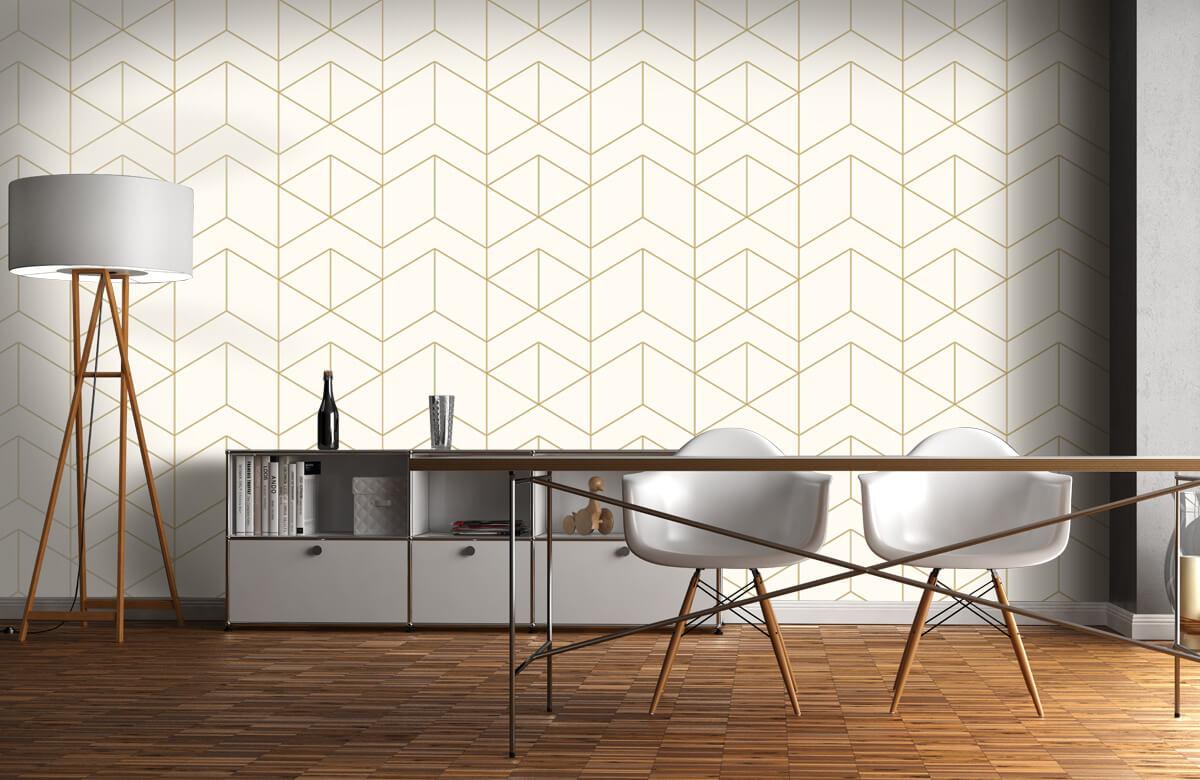 Beton, hout en steen Geometrische witte tegels 11