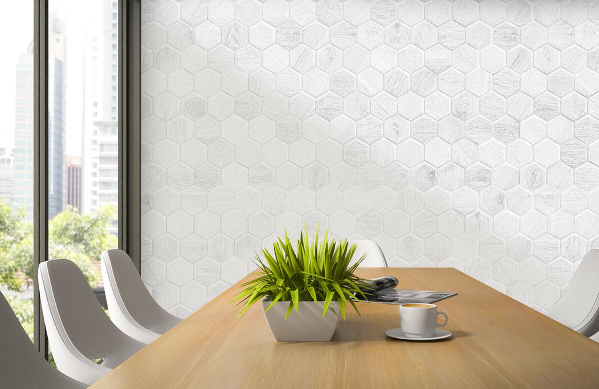 Beton, hout en steen Lichte marmeren tegeltjes 3