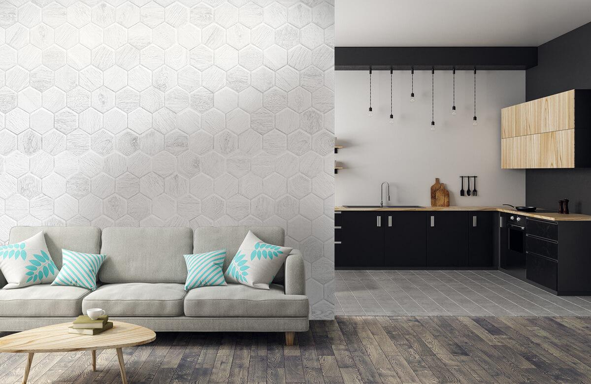 Beton, hout en steen Lichte marmeren tegeltjes 6