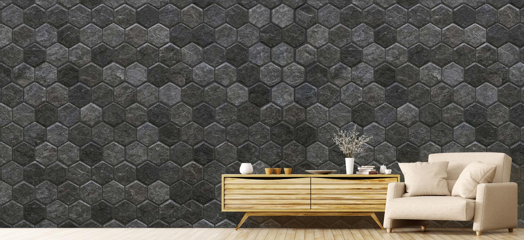 Beton, hout en steen Kleine zwarte steentjes 6