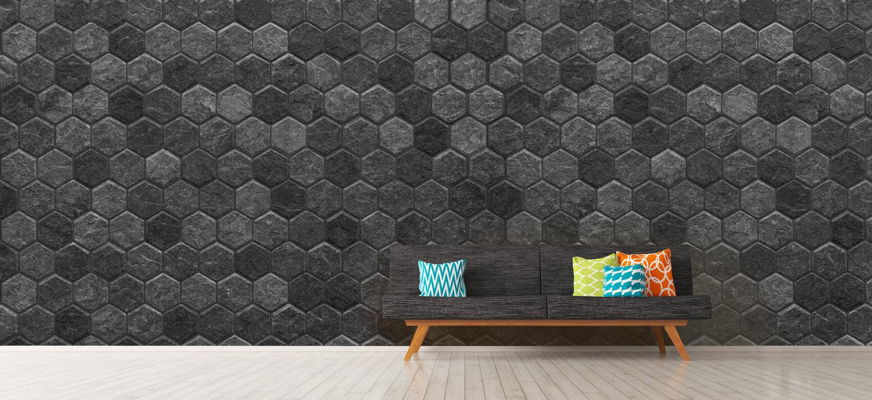 Beton, hout en steen Kleine zwarte steentjes 13