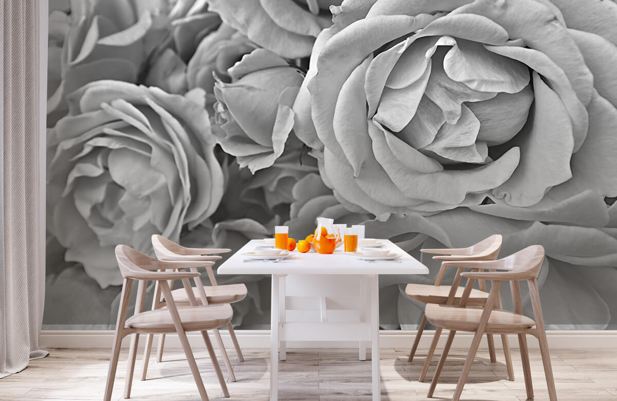Bloemen, planten en bomen Rozen zwart-wit 2