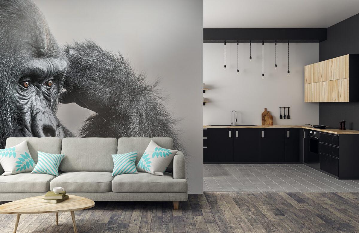 Dieren Gorilla zwart-wit 6