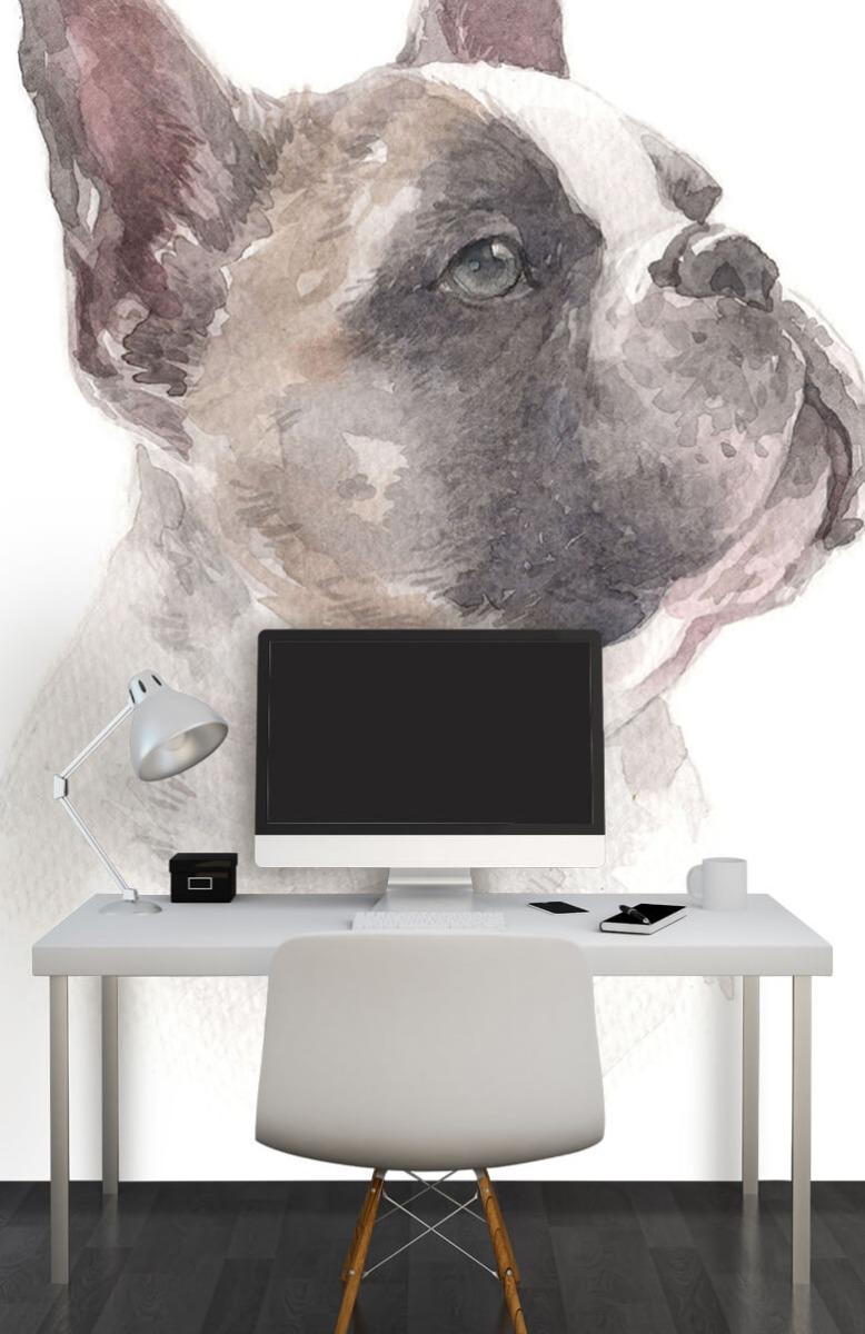 Dieren Waterverf Franse bulldog 11