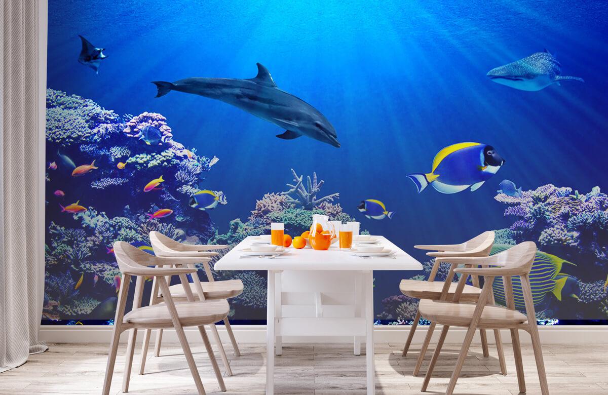 Dieren Onderwaterwereld blauw 2