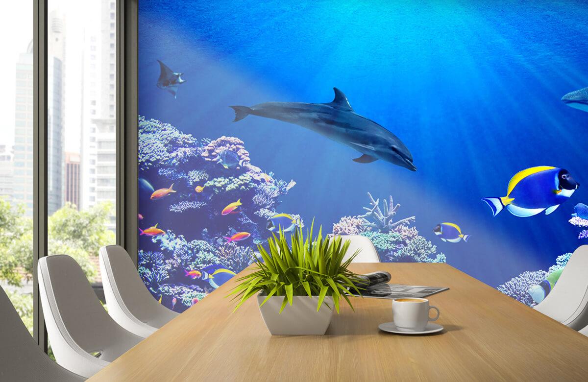 Dieren Onderwaterwereld blauw 1