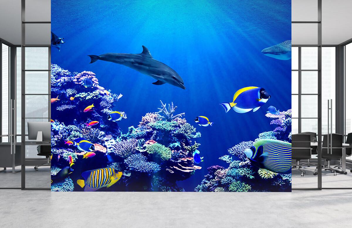 Dieren Onderwaterwereld blauw 3
