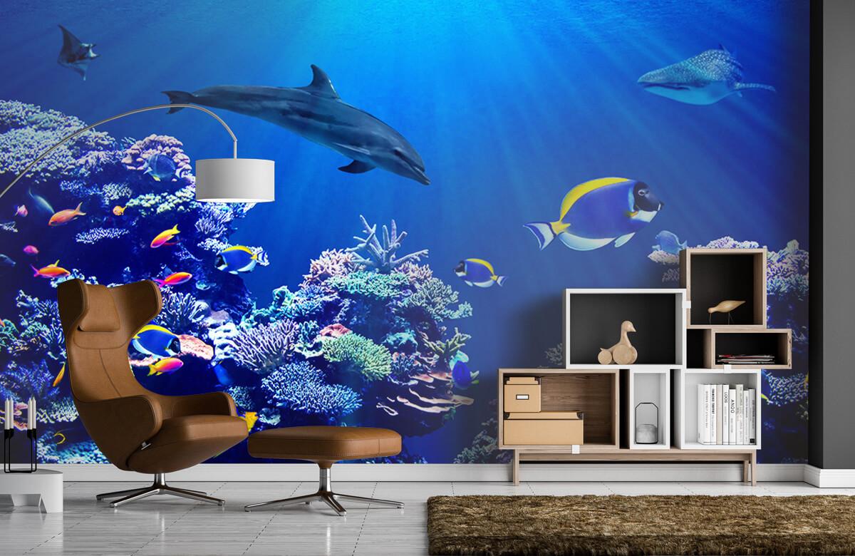 Dieren Onderwaterwereld blauw 4