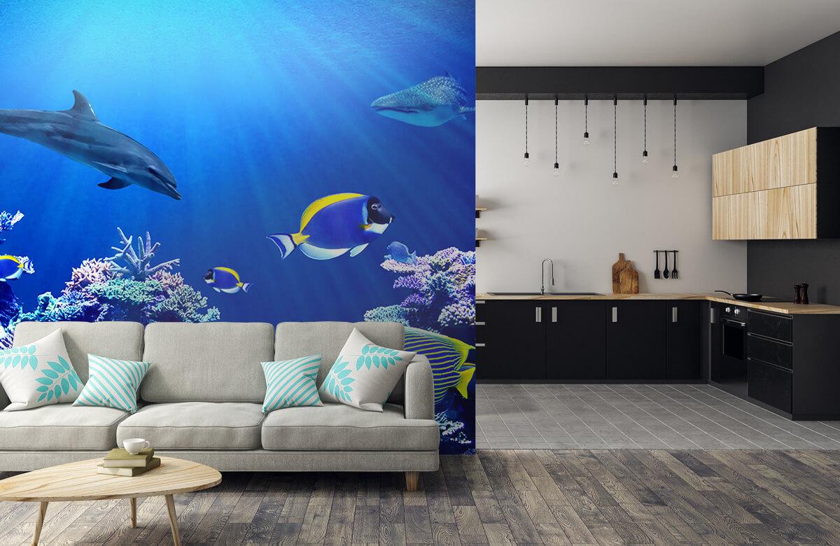 Dieren Onderwaterwereld blauw 5