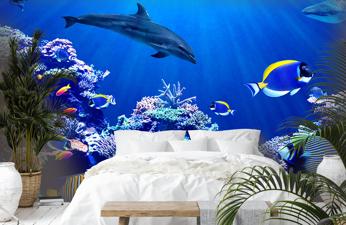 Dieren Onderwaterwereld blauw 6