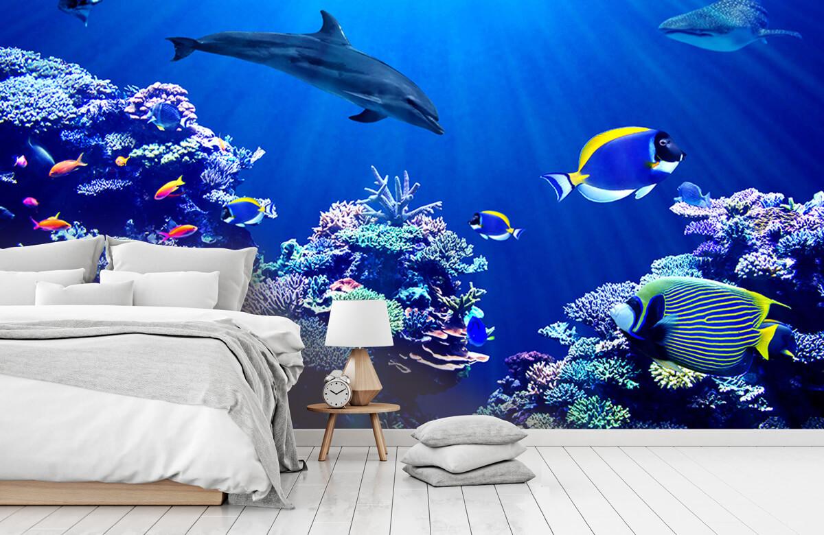 Dieren Onderwaterwereld blauw 7