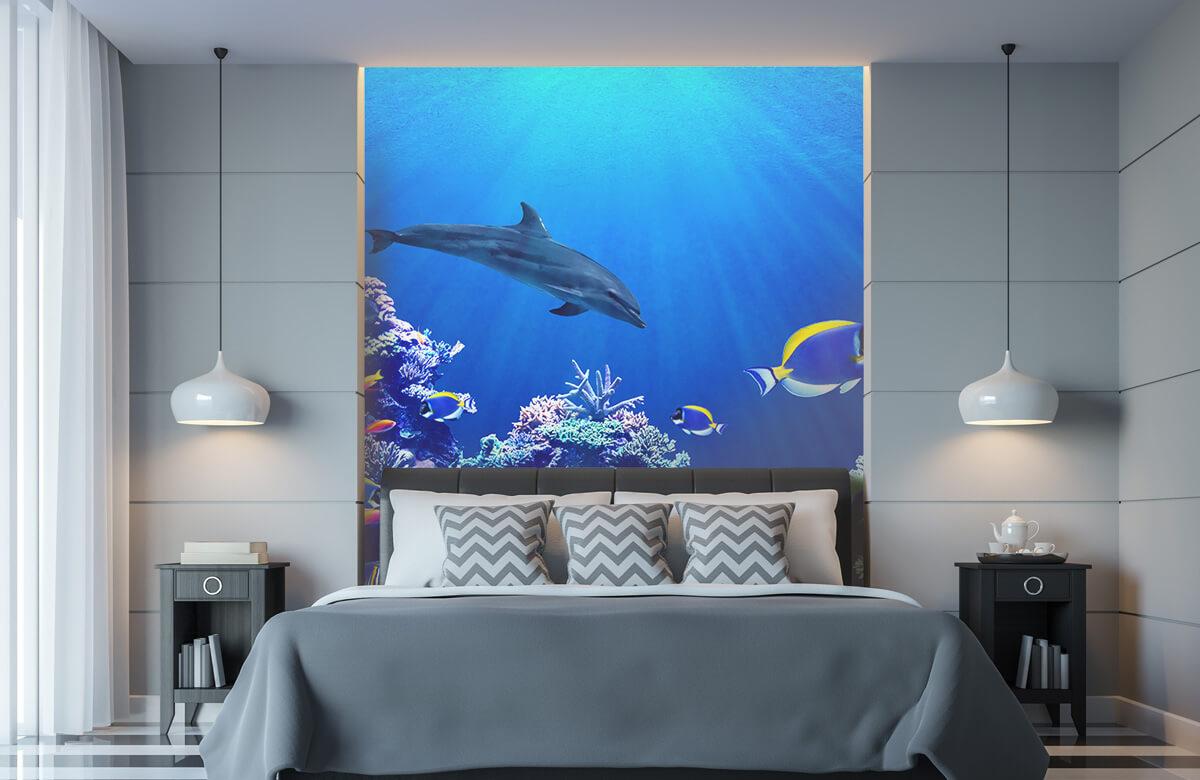 Dieren Onderwaterwereld blauw 8