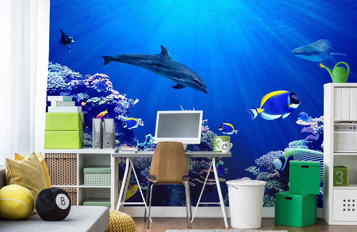 Dieren Onderwaterwereld blauw 9