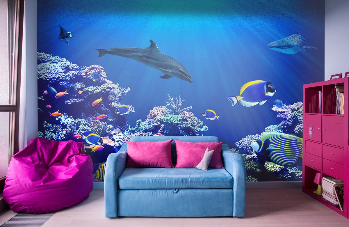 Dieren Onderwaterwereld blauw 10