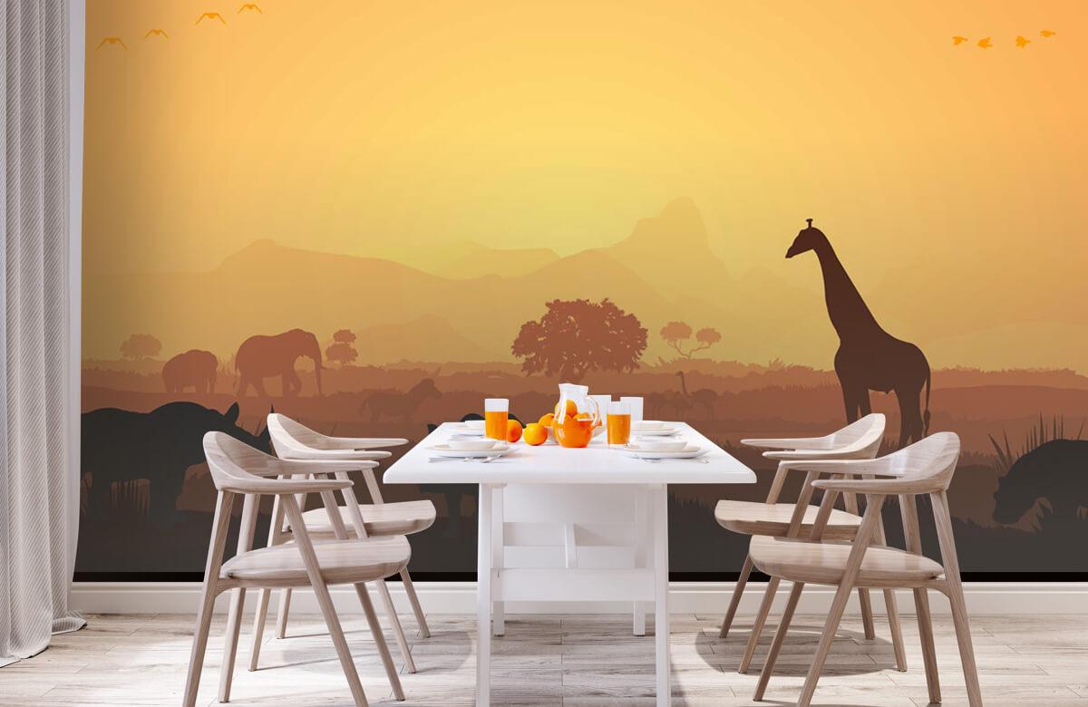 Jungle Wilde dieren op savanne 2