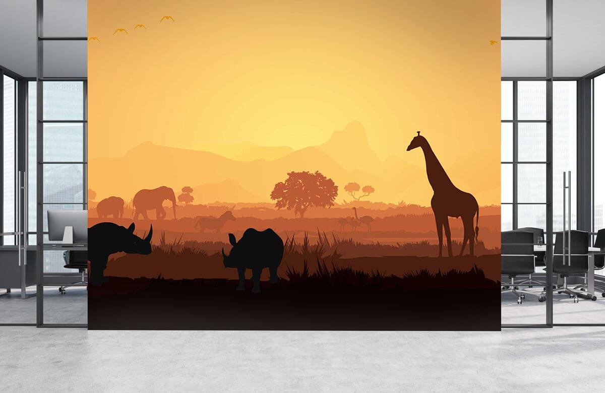 Jungle Wilde dieren op savanne 4