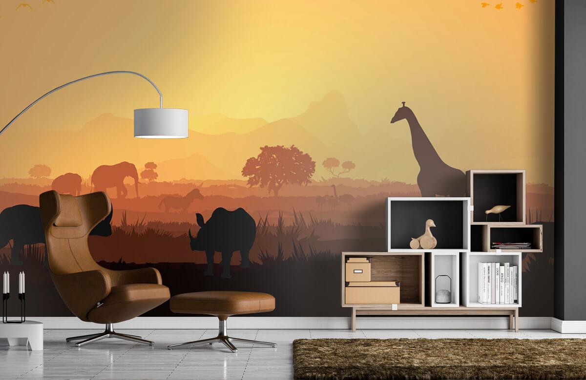 Jungle Wilde dieren op savanne 1