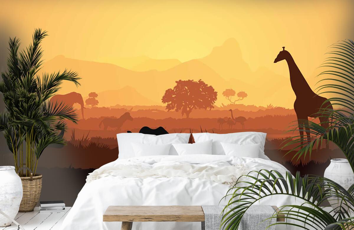 Jungle Wilde dieren op savanne 6