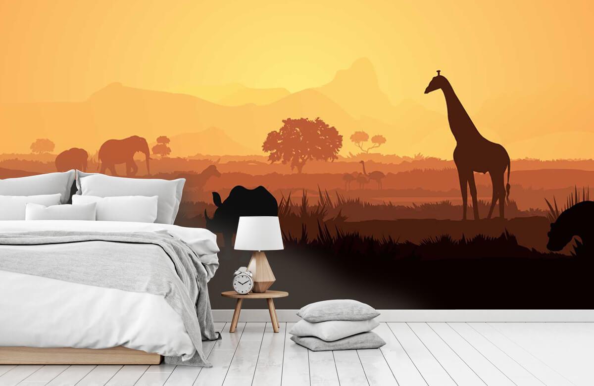 Jungle Wilde dieren op savanne 7