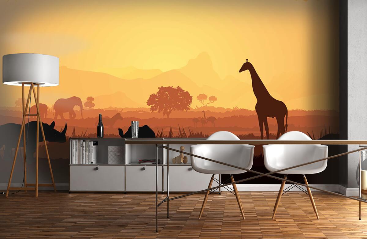 Jungle Wilde dieren op savanne 11