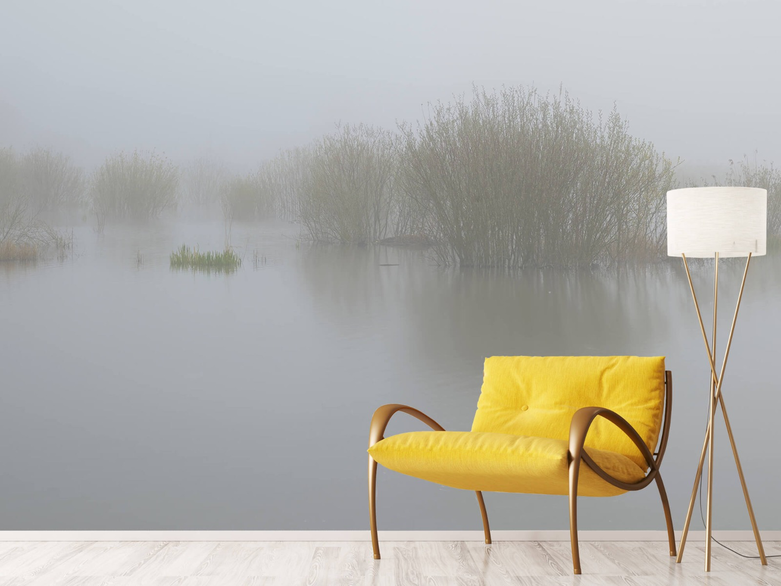 Landschap - Mist in natuurgebied - Slaapkamer 11