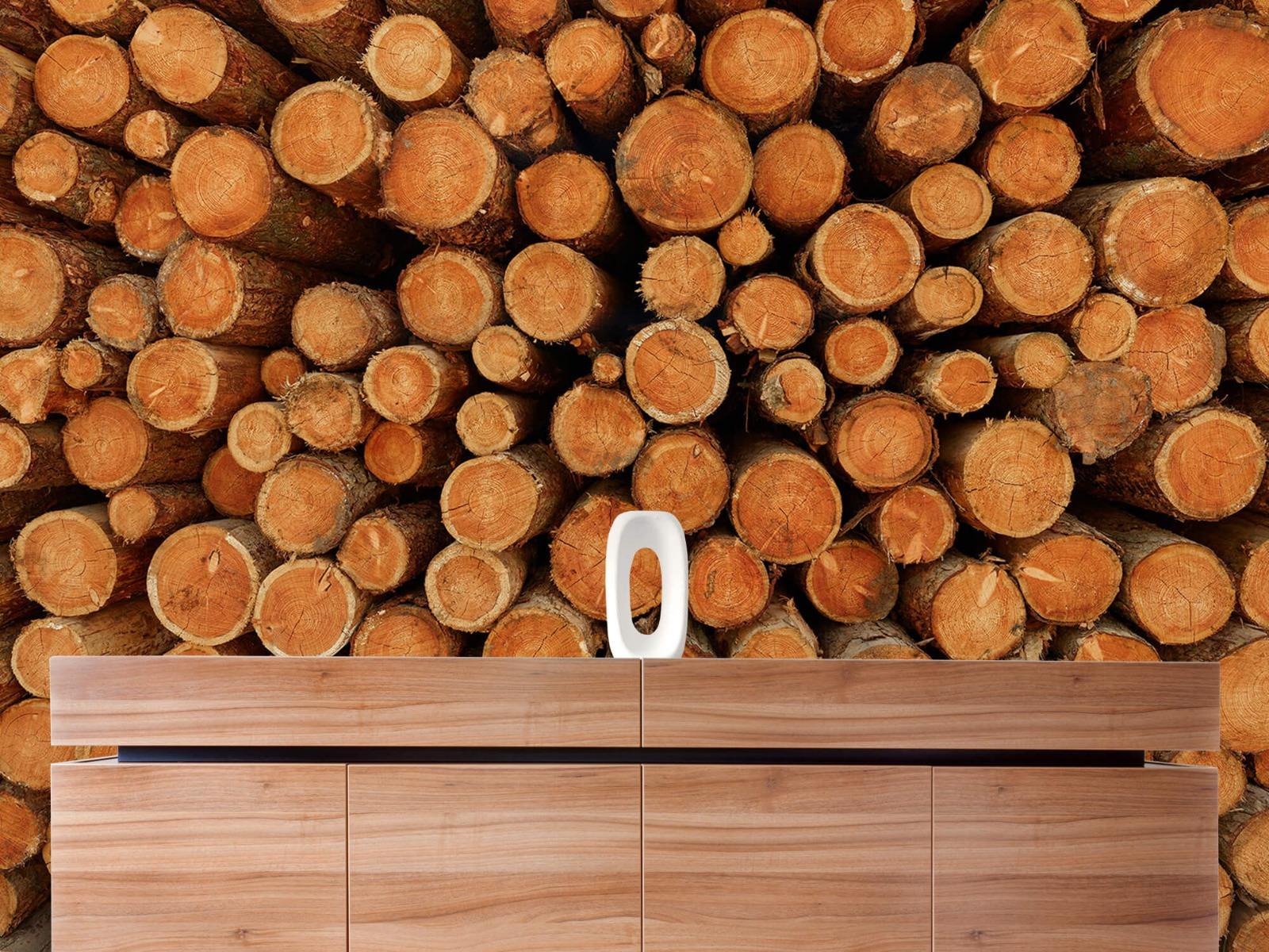 Bomen - Stapel donkere boomstammen - Slaapkamer 20