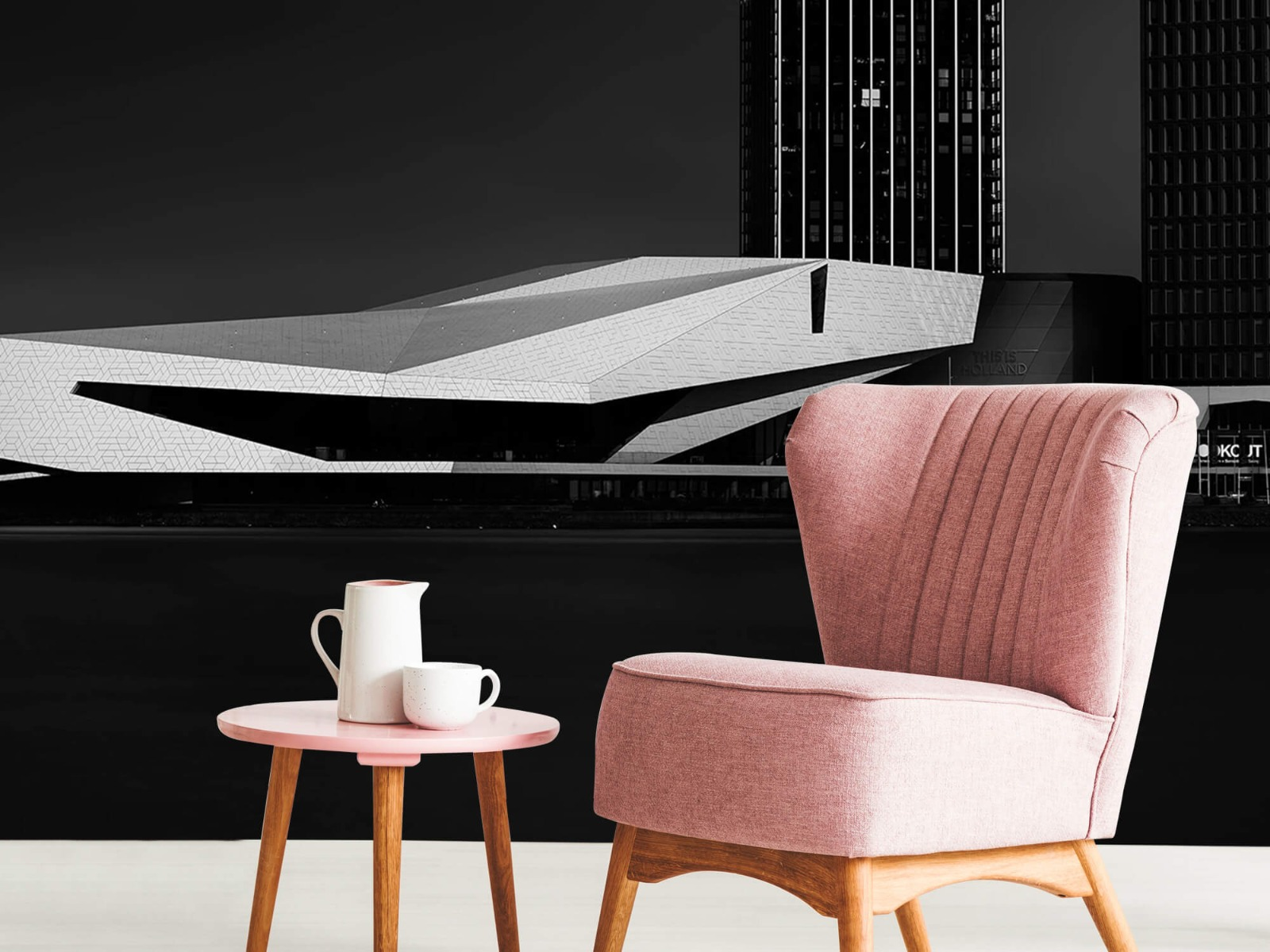 Modern behang - Gebouwen Amsterdam - Tienerkamer 9
