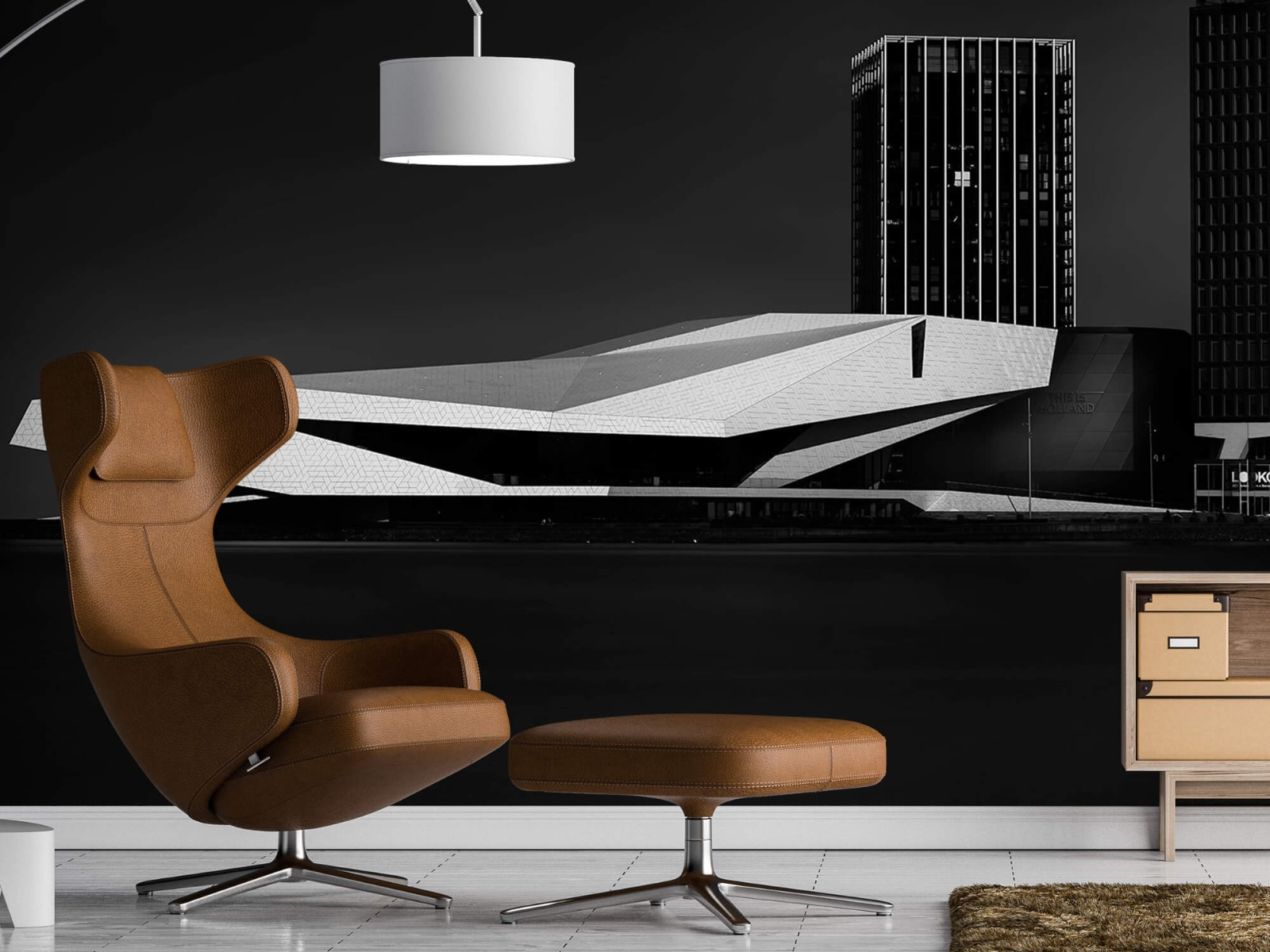Modern behang - Gebouwen Amsterdam - Tienerkamer 19
